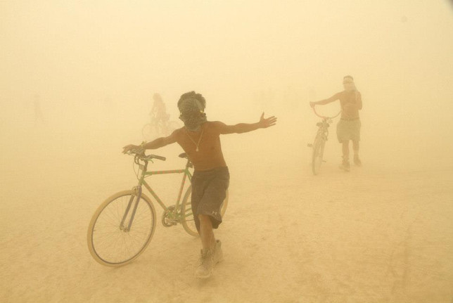 Sand storm at Burning Man