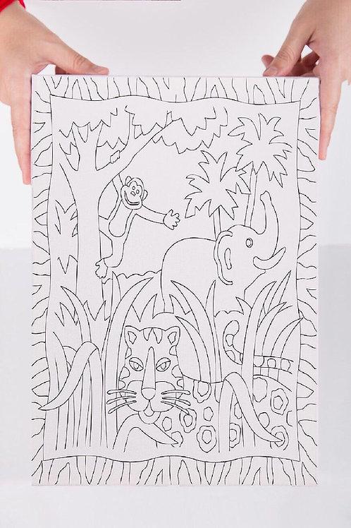 Orman Desenli Tuval