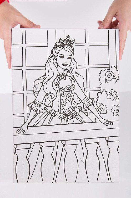 Barbie Desenli Tuval