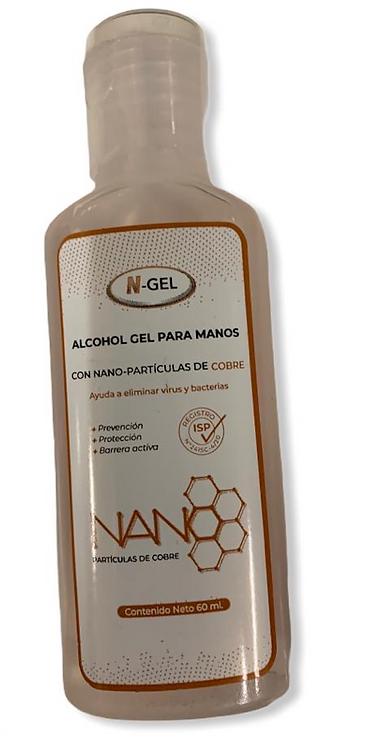 Alcohol gel para manos con nano cobre