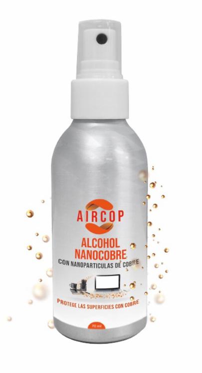SPRAY DE ALCOHOL CON NANO PARTICULA DE COBRE