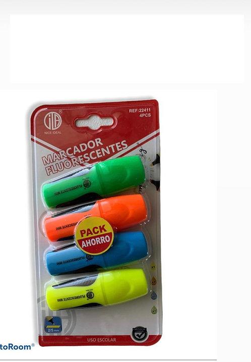 Lapices destacadores fluorescentes