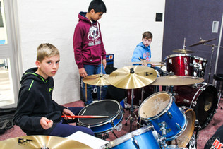 Drummers in rehearsal