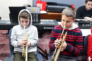 Trumpets rehearsing