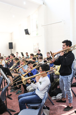 Trombones with Mr Dylan