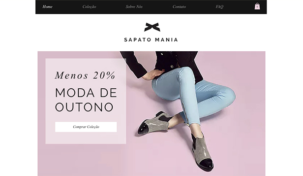 Loja Virtual website templates – Sapatos Femininos