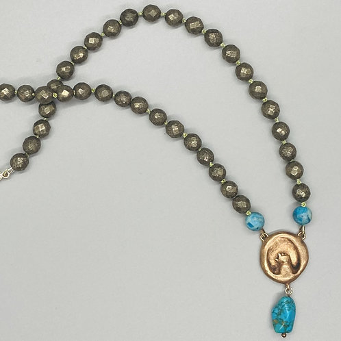 """Lucky """"Maker's Hand"""" Beaded Necklace by Harriet Taylor-Thorpe"""