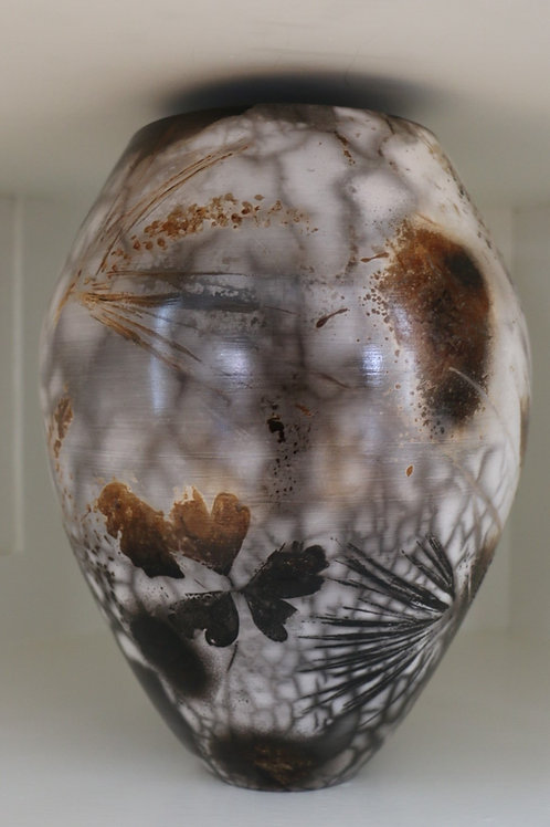 Large Sawdust Fired Vase by Shelly Napoletano Flynn