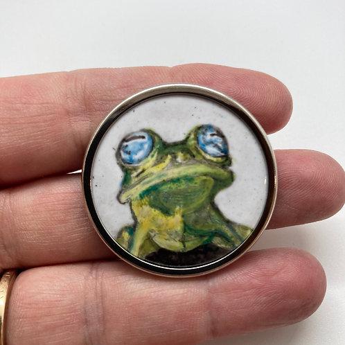 """""""Ghost Glassfrog"""" Brooch by Harriet Taylor-Thorpe"""