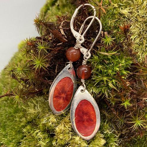 Enamel Flower Earring by Harriet Taylor-Thorpe