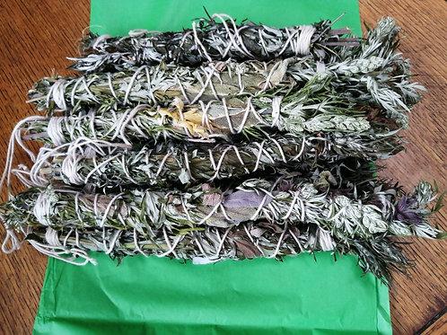 Mugwort and Sage Smudge Bundles