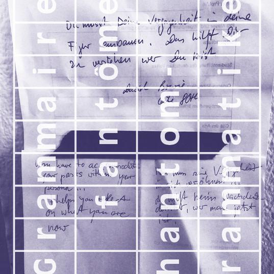 Grammaires fantômes (flyer), 2019