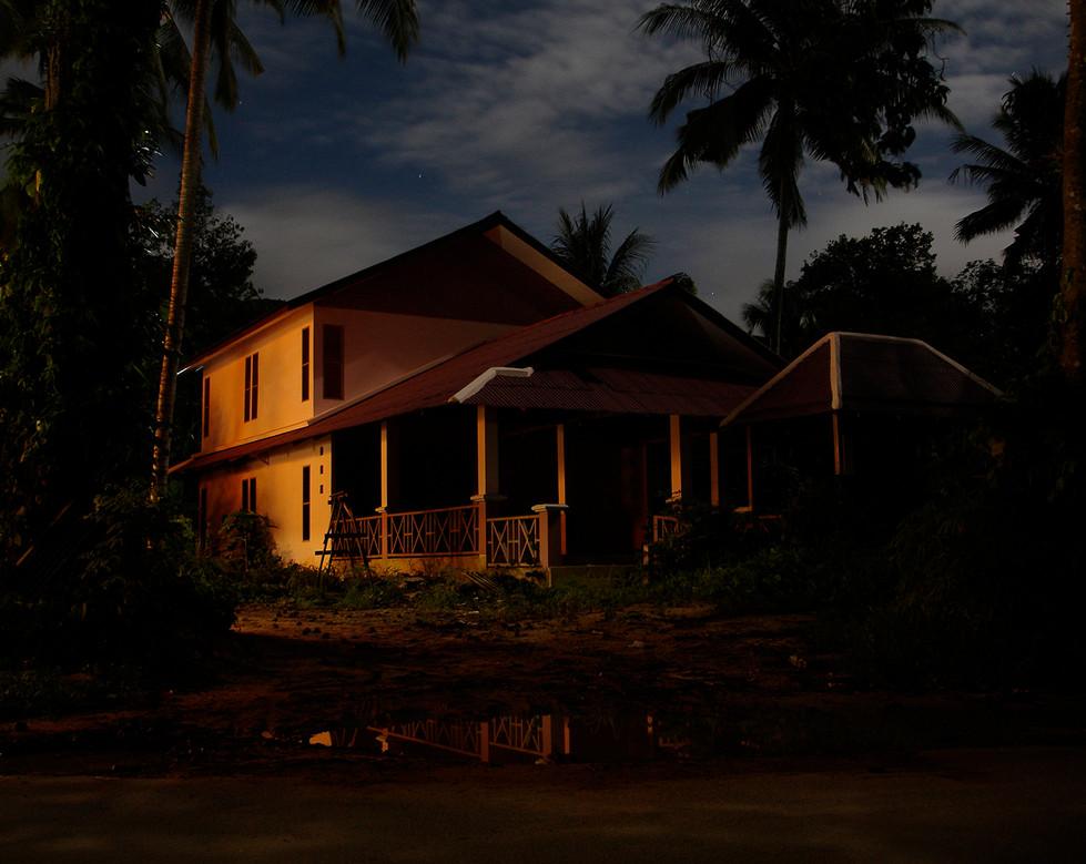 N.Lichtig, Ghosttrap (sound & performance / photography / installation: photoluminescent silkscreen prints, timer, lights), ongoing since 2007