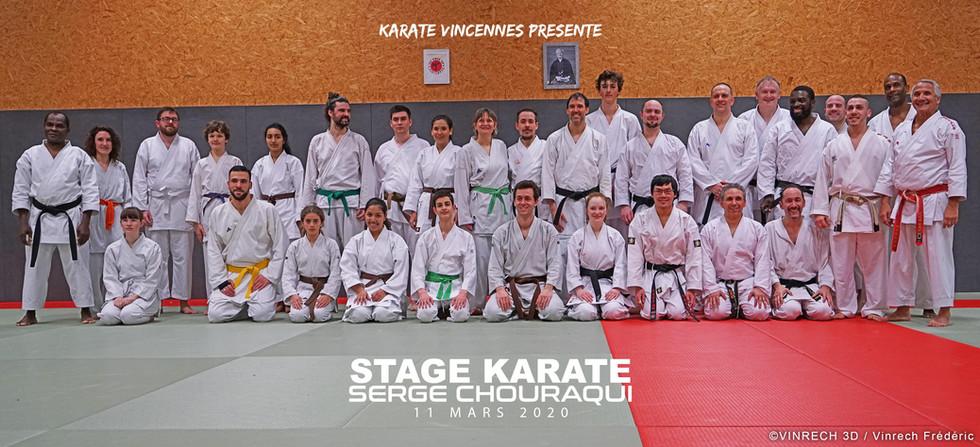 KARATE VINCENNES STAGE SERGE CHOURAQUI