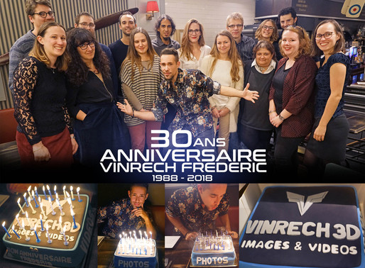 30 ans Anniversaire Vinrech Frédéric, dirigeant de VINRECH 3D