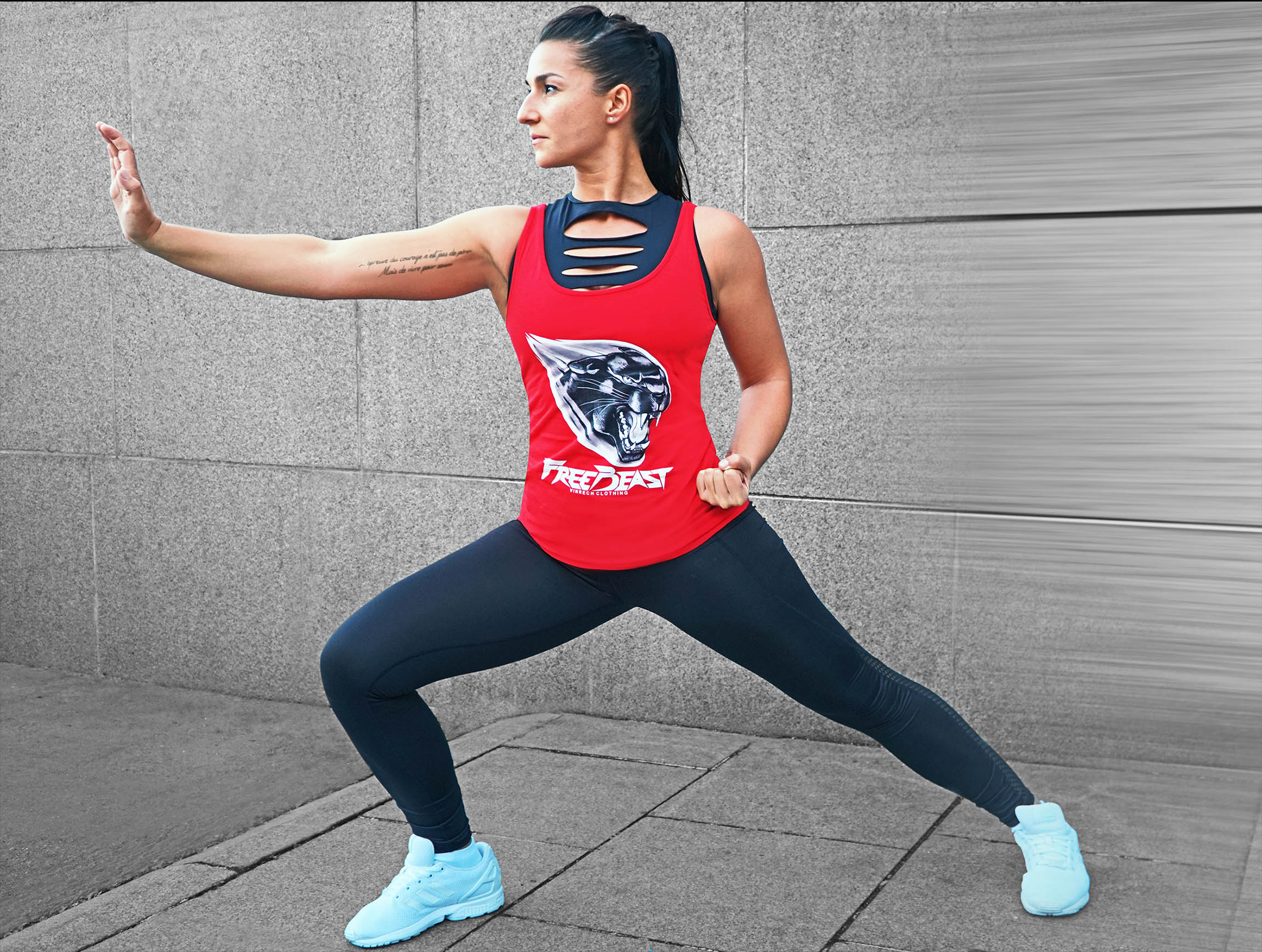 VINRECH CLOTHING - SHOOTING - FREE BEAST - PANTHER Rouge