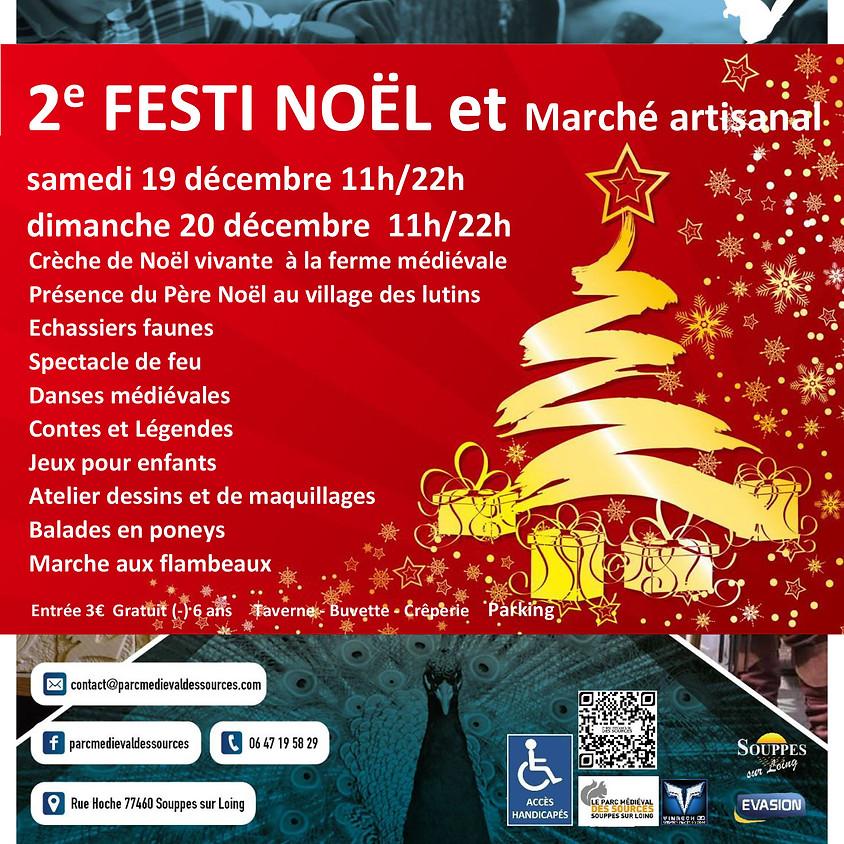 2ème FESTI NOËL & MARCHE ARTISANAL - Parc Médiéval des Sources