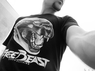 VINRECH CLOTHING - FREEBEAST Panther T-s