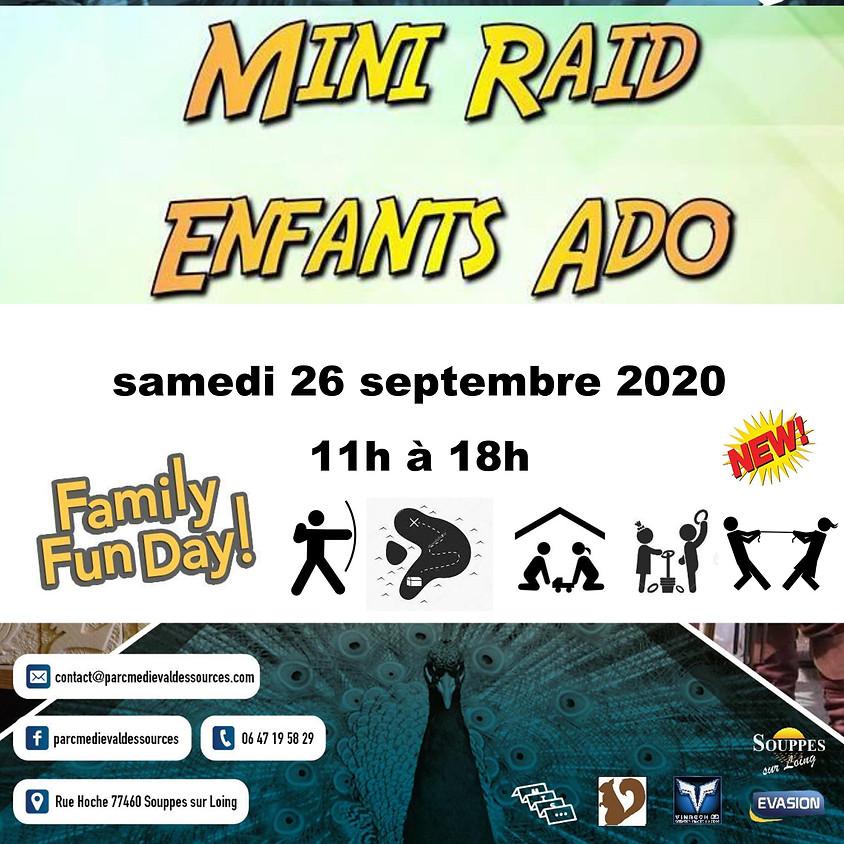 MINI RAID ENFANT ADO - Parc Médiéval des Sources