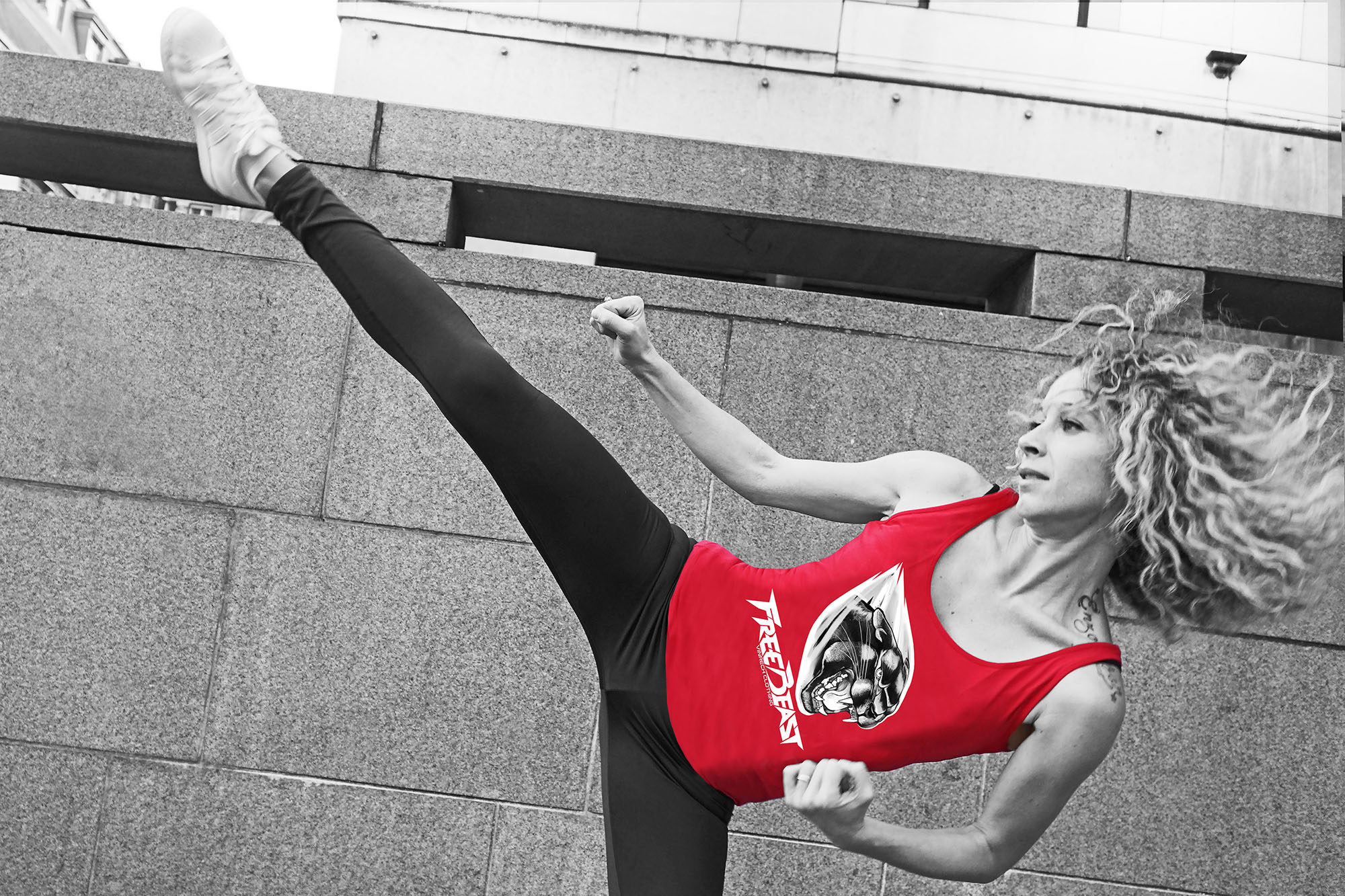 VINRECH CLOTHING - SHOOTING - FREE BEAST - PANTHER Rouge - BAM 02