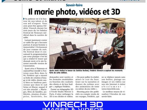 Article de presse sur VINRECH 3D par  L'Éclaireur du Gâtinais