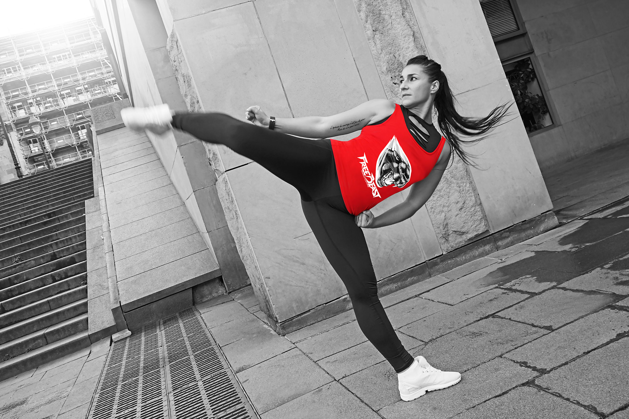 VINRECH CLOTHING - SHOOTING - FREE BEAST - PANTHER Rouge - BAM 01