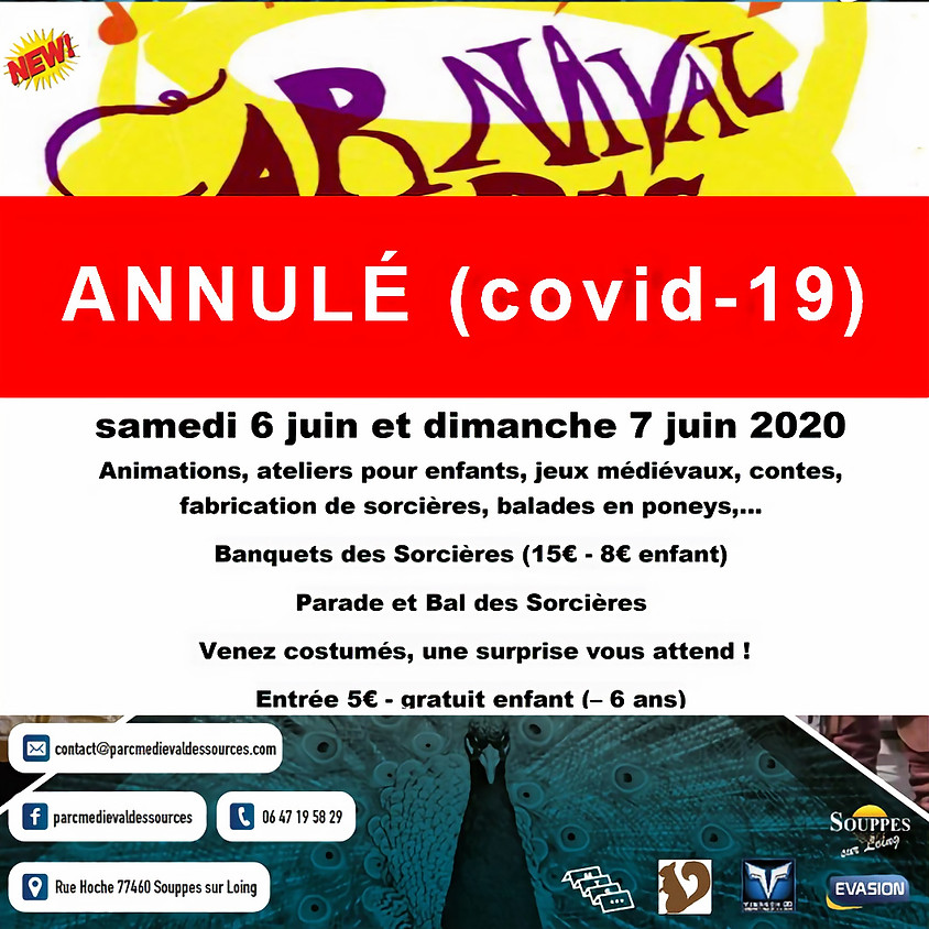 (ANNULÉ Covid-19) CARNAVAL DES SORCIÈRES