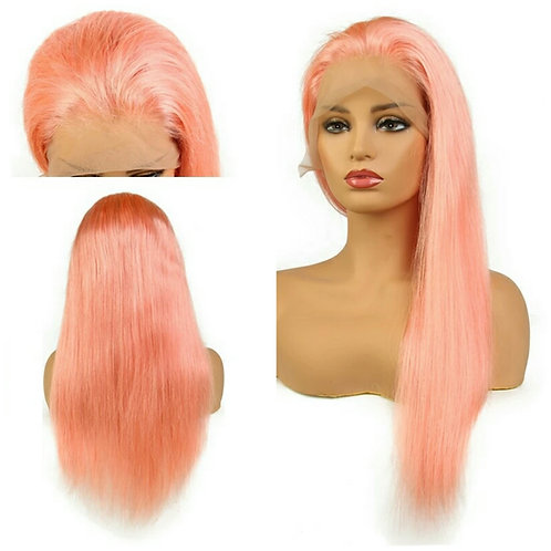 """Pink Lace Wig prepluck (straight) """"Pinky"""""""