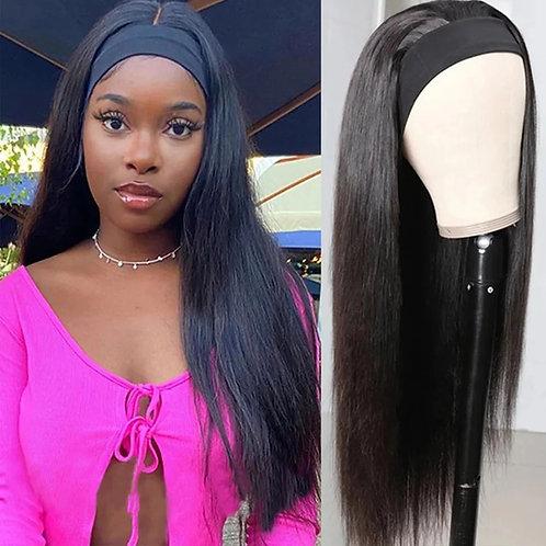 Straight headband wig 180% density