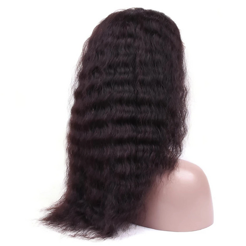 "Natural wave(water wave) 360 frontal ""Ebony wig"""