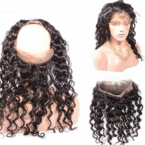 360 pre plucked lace frontal deep wave curly