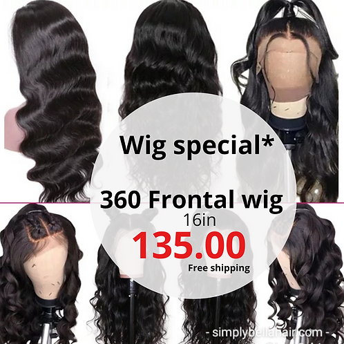 *Wig Special* 360 frontal wig 16in