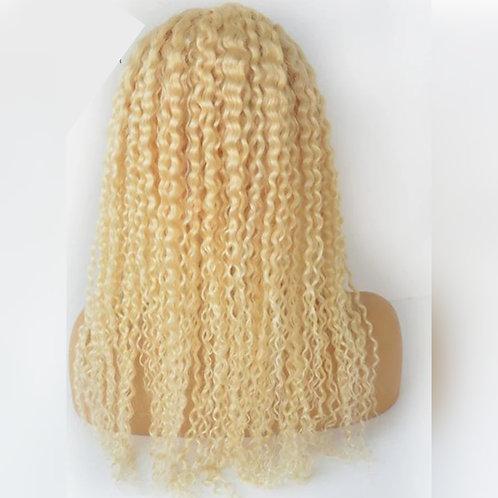"Blonde kinky curly ""Ashley"" wig"