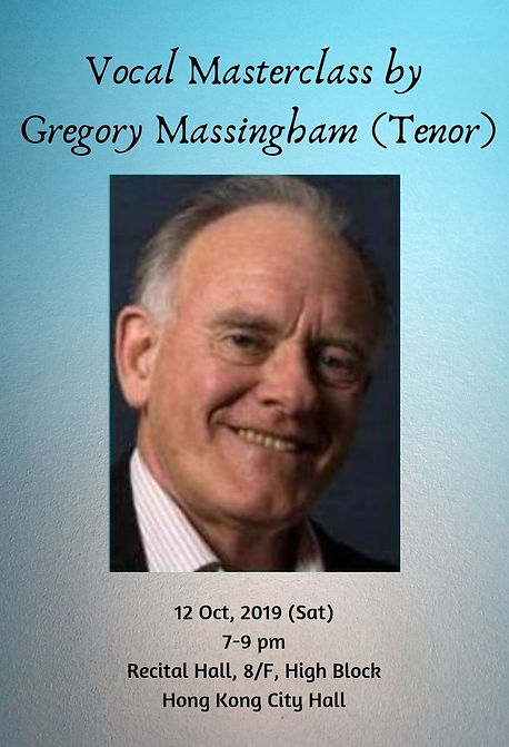 Vocal Masterclass by Gregory Massingham