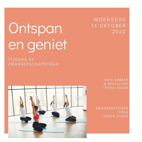 Zwangerschapsyoga & info arbeid&bevalling 14 oktober 2020