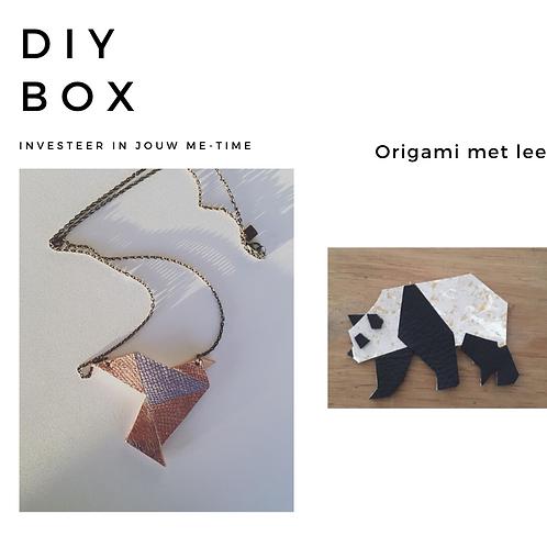 DIY box origami uit leer