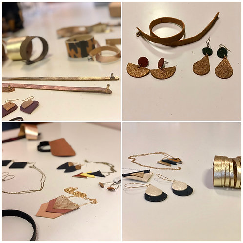 Workshop mini collectie leren juwelen