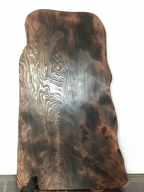 Custom live edge Redwood coffee table