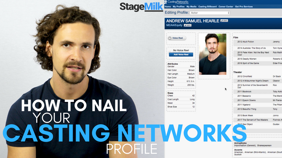 [STAGEMILK] How to nail your Casting Networks Profile
