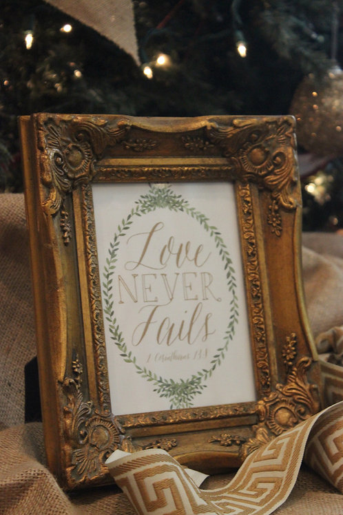 Love Never Fails Print