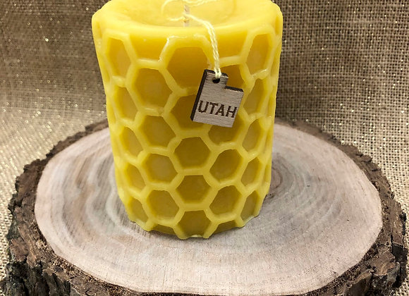 Hand Poured Beeswax Honeycomb Candle