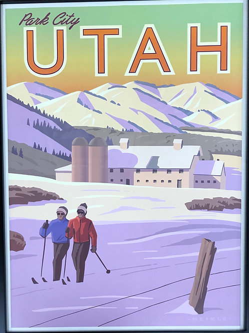 Scenic Poster by Utah Artist David Meikle - Park City Evening