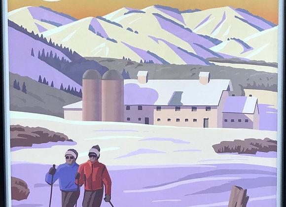 Scenic Poster by Utah Artist David Meikle - Park City Evening