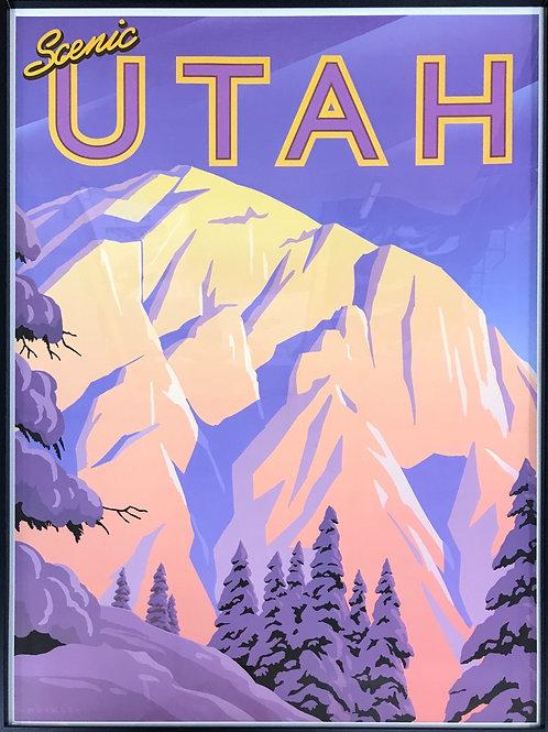 Scenic Poster by Utah Artist David Meikle - Mount Olympus