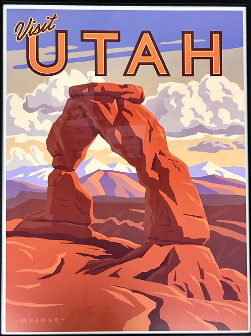 Scenic Poster by Utah Artist David Meikle - Delicate Arch