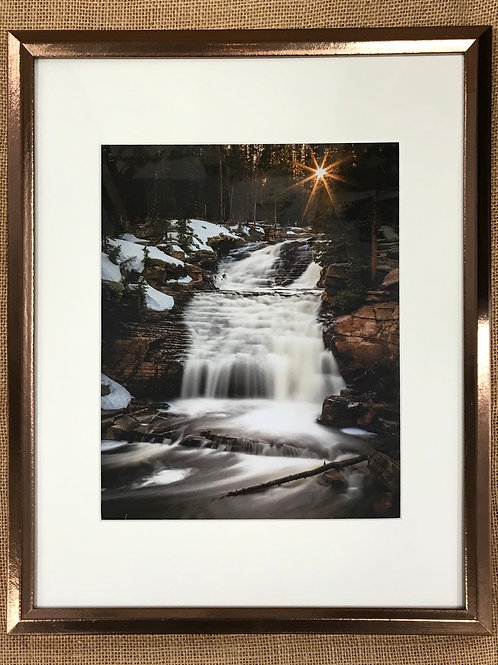 Sunstar Falls Framed Print by Darlene Smith