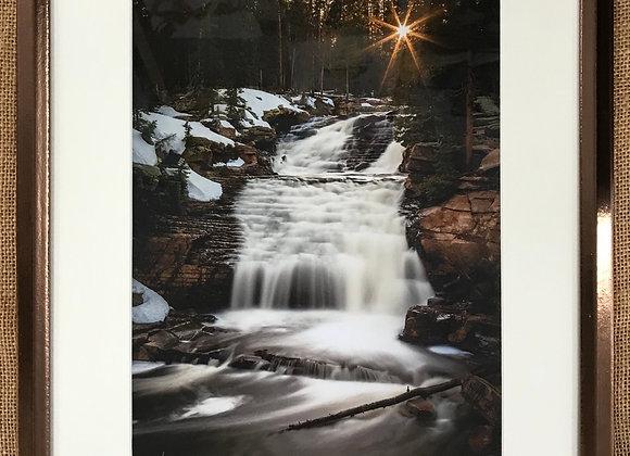 Sunstar Falls Framed Print by Darlene Smith