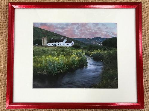 McPolin Farm Sunrise Framed Print by Darlene Smith
