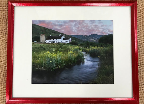 McPolin Farm Sunrise Framed Print by Darlene Smith
