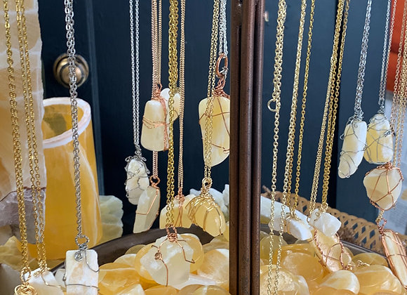 Honey Onyx Wishing Stone Necklaces
